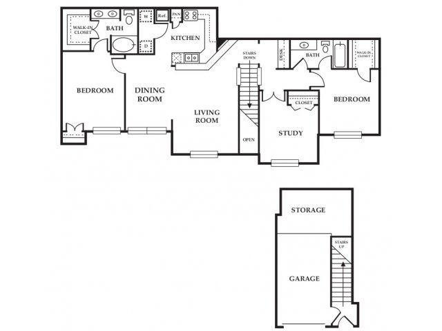 Floor Plan 2 | Somerset at Spring Creek