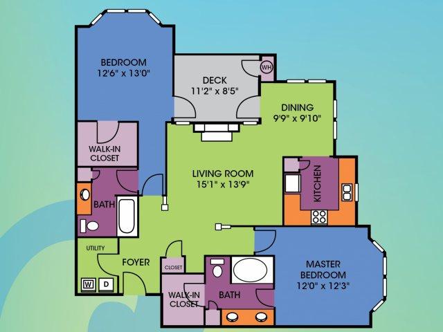 2 Bedroom Floor Plan | Wakefield Glen