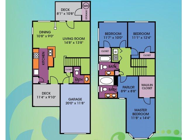 3 Bedroom Floor Plan | Wakefield Glen