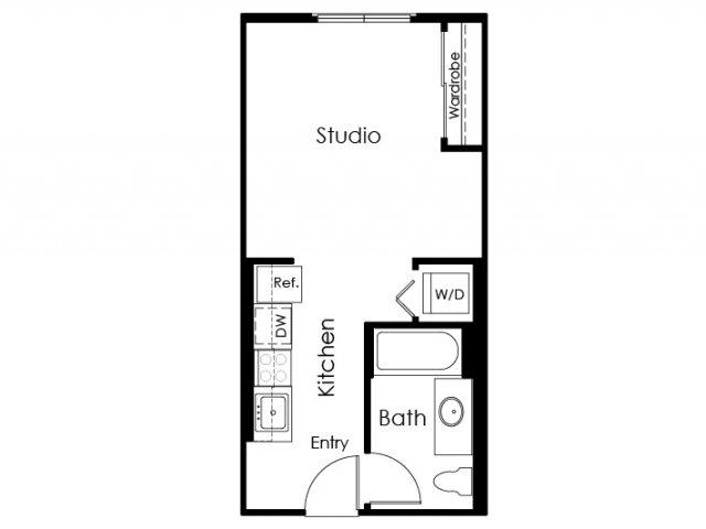Floor Plan 8 | Pomona Apartments | Monterey Station Apartments