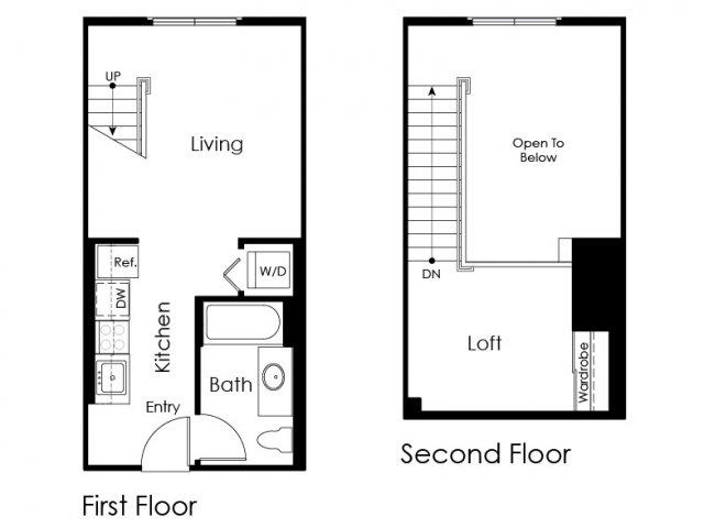 Floor Plan 4 | Pomona Apartment | Monterey Station Apartments