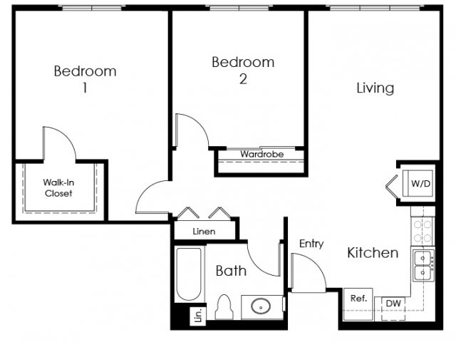 Floor Plan 5 | Apartment In Pomona | Monterey Station Apartments