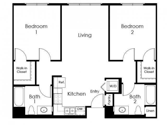 Floor Plan 11 | Apartment In Pomona | Monterey Station Apartments