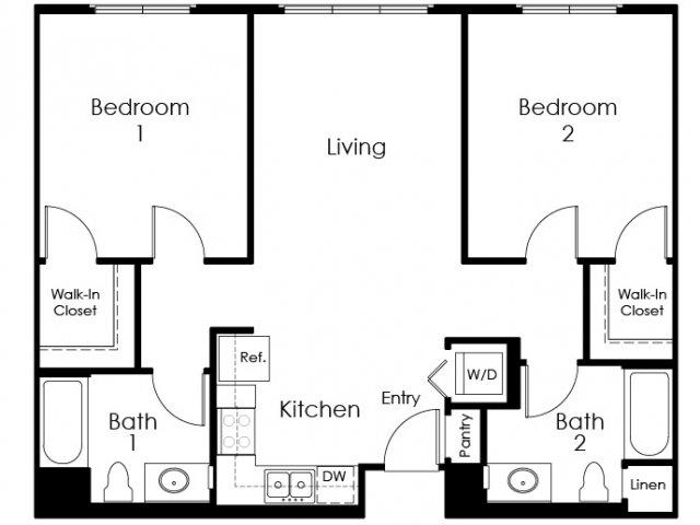 Floor Plan 12 | Apartment In Pomona | Monterey Station Apartments