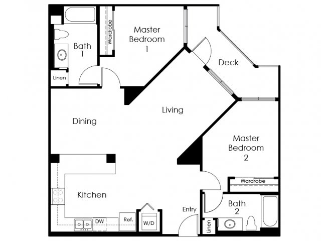 Floor Plan 13 | Apartment In Pomona | Monterey Station Apartments