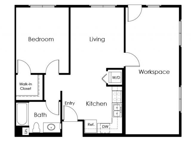 Floor Plan 14 | Apartment In Pomona | Monterey Station Apartments