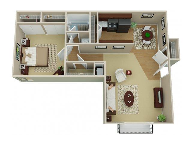 1 Bedroom Floor Plan | Arvada Village