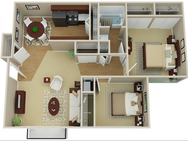 2 Bedroom Floor Plan | Arvada Village 2