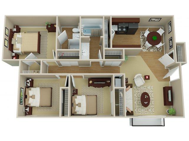 3 Bedroom Floor Plan | Arvada Village 2