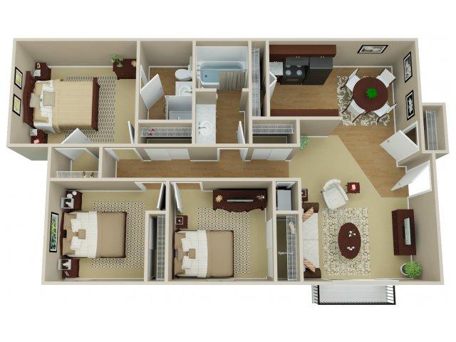 3 Bedroom Floor Plan | Arvada Village