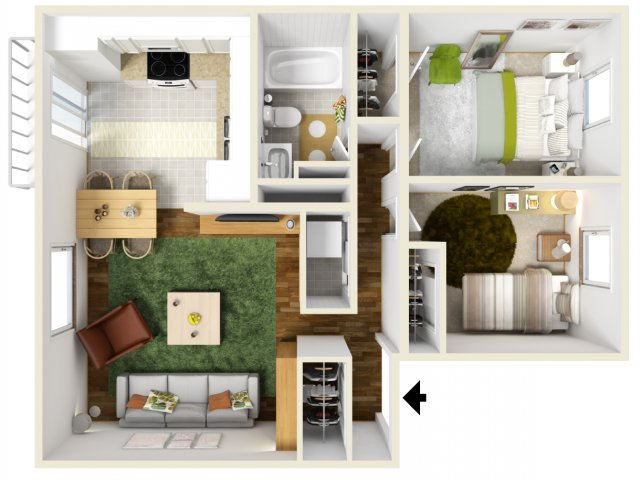 Two Bedroom Apartments | Pacific Crest