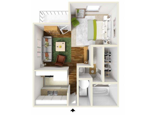 Studio Floorplan | Pacific Crest