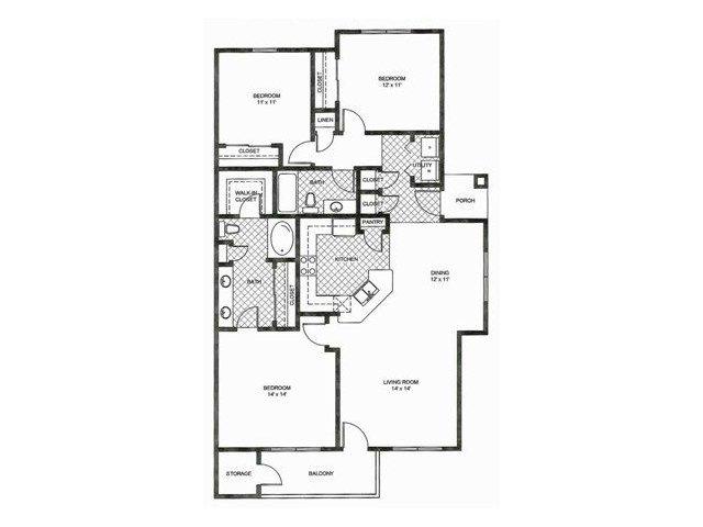 Floor Plan | Reserve at Pebble Creek Apartments