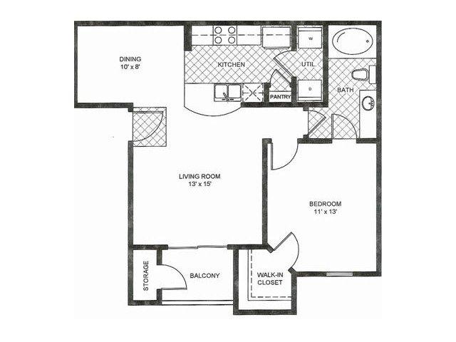 Floor Plan 2 | Reserve at Pebble Creek Apartments