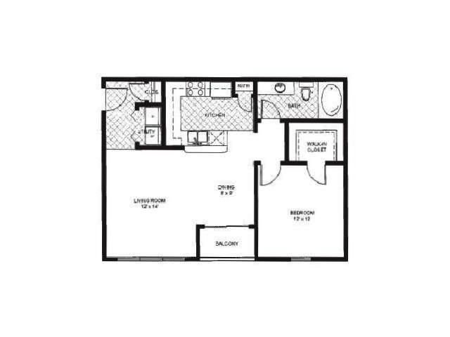 Floor Plan 4   Reserve at Pebble Creek Apartments