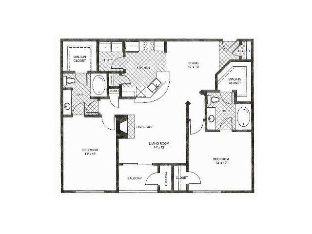 Floor Plan 5   Reserve at Pebble Creek Apartments