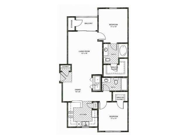 Floor Plan 3   Reserve at Pebble Creek Apartments