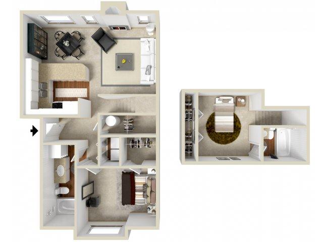 Floor Plan 4 | Apartments Vancouver WA | Golfside Village