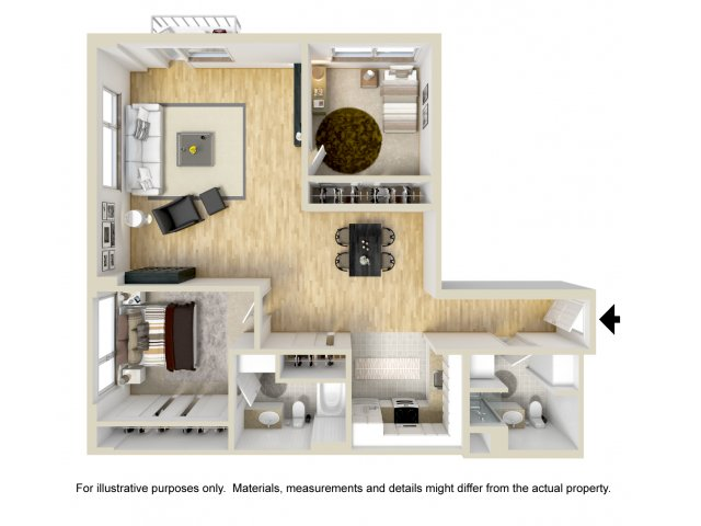 2 Bedroom Floor Plan | Museum Place5