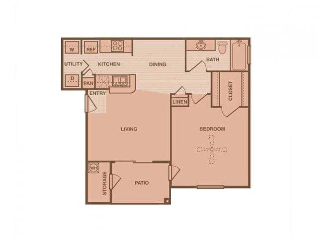 1 Bedroom Floor Plan | Retreat at Westchase