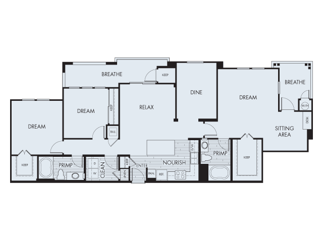 3 Bedroom Floor Plan | Artisan at East Village