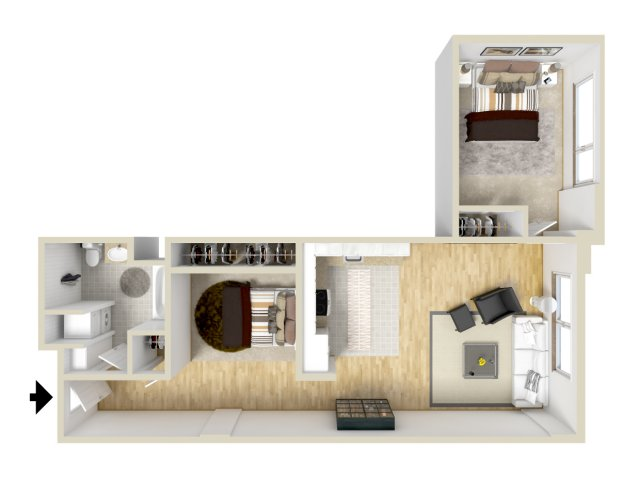 2 Bedroom Floor Plan | Museum Place2
