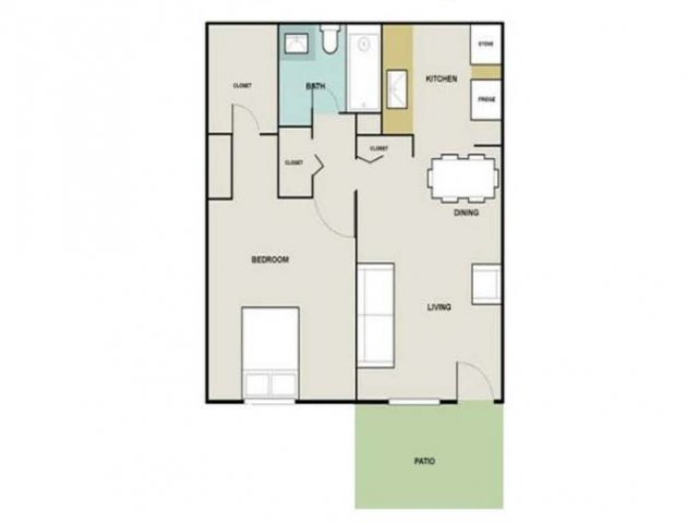 1 Bedroom Floor Plan | Briarwest