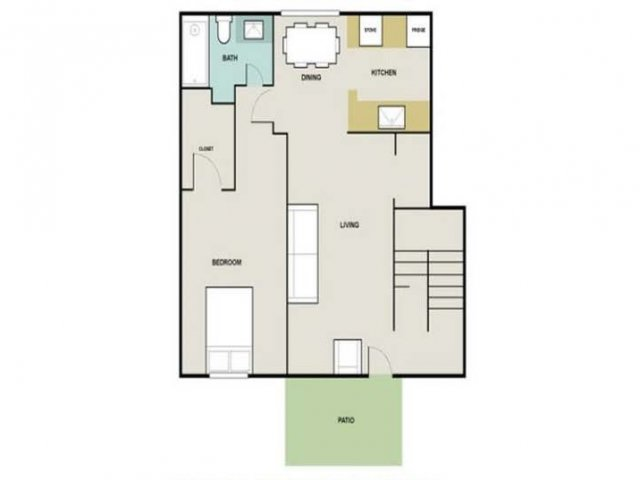 1 Bedroom Floor Plan | Briarwest1