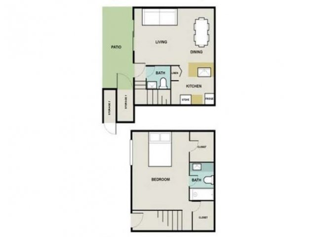 1 Bedroom Floor Plan | Briarwest2
