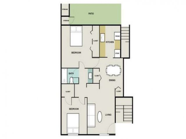 2 Bedroom Floor Plan | Briarwest
