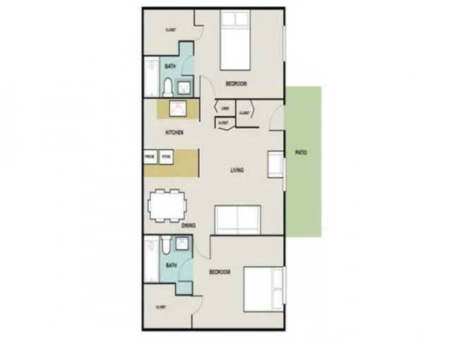 2 Bedroom Floor Plan | Briarwest3