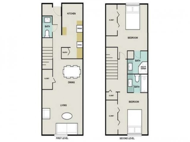 2 Bedroom Floor Plan | Briarwest4