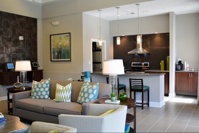 Living Room at Dunwoody Place Apartments
