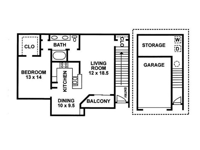 Floor Plan 2 | Chartwell Court Apartments