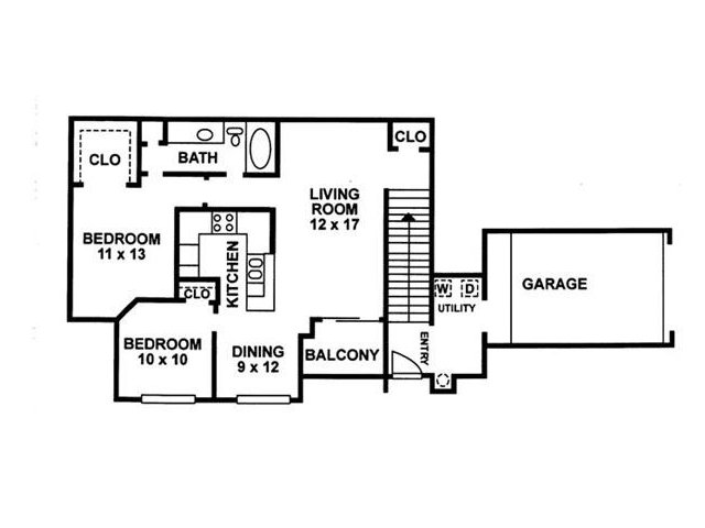 Floor Plan 3 | Chartwell Court Apartments