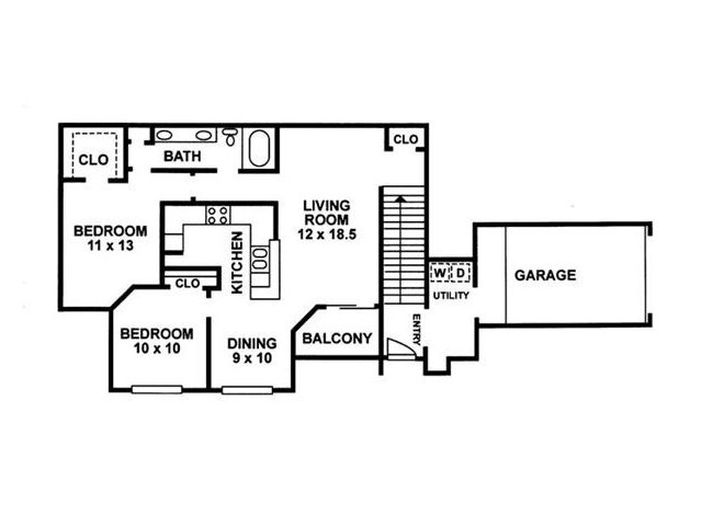 Floor Plan 5 | Chartwell Court Apartments