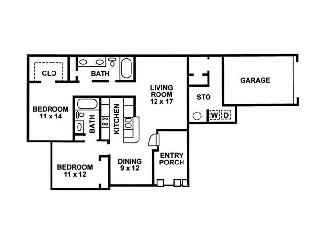 Floor Plan 6 | Chartwell Court Apartments