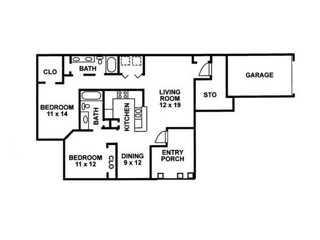 Floor Plan 8 | Chartwell Court Apartments