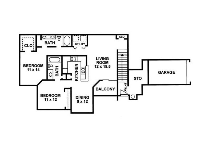 Floor Plan 9 | Chartwell Court Apartments