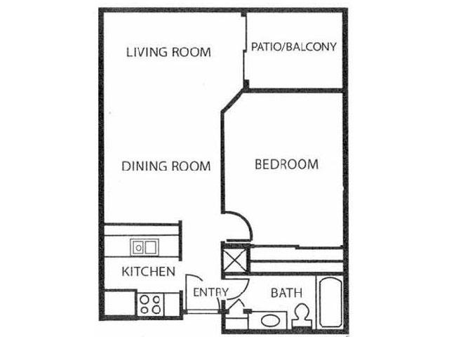 1 Bedroom Floor Plan | Reserve at Windmill Lakes