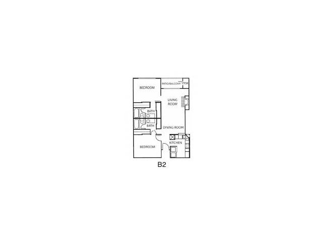 2 Bedroom Floor Plan | Reserve at Windmill Lakes
