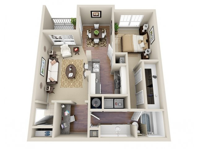 Floor Plan 2 | Dunwoody Place Apartments 2
