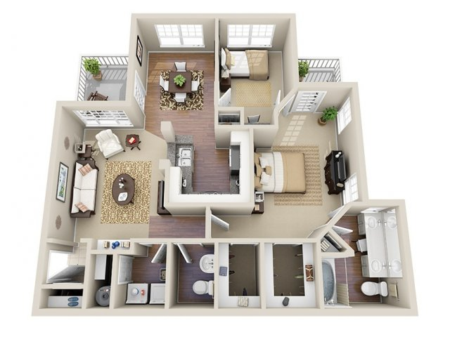 Floor Plan 4 | Dunwoody Place Apartments 2