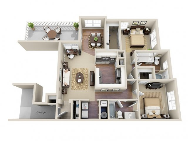 Floor Plan 7 | Dunwoody Place Apartments 2