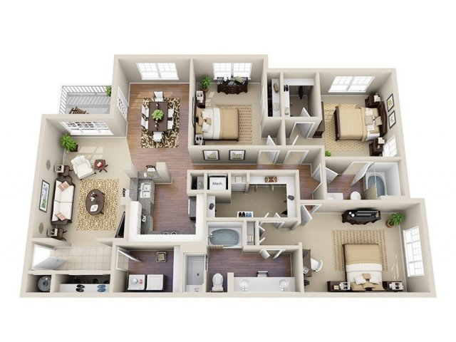 Floor Plan 10 | Dunwoody Place Apartments 2