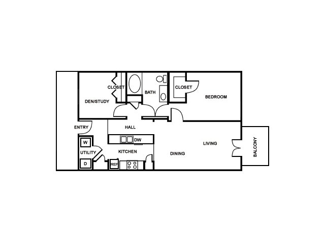 1 Bedroom Floor Plan | The Saulet