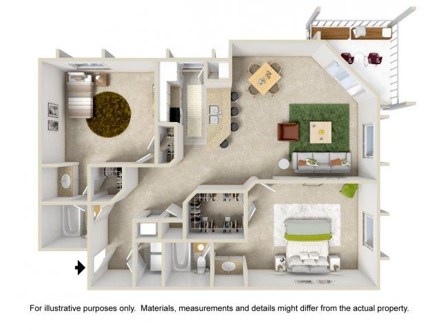Floor Plan 5 | Apartment For Rent In Altamonte Springs | Lakeshore at Altamonte Springs
