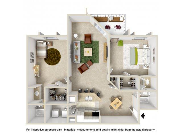 Floor Plan 6 | Apartment For Rent Altamonte Springs FL | Lakeshore at Altamonte Springs