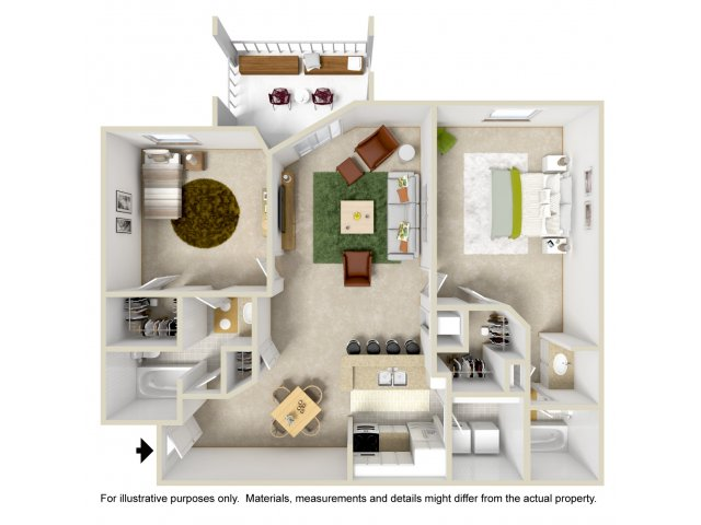 Floor Plan 4 | Apartment In Altamonte Springs | Lakeshore at Altamonte Springs