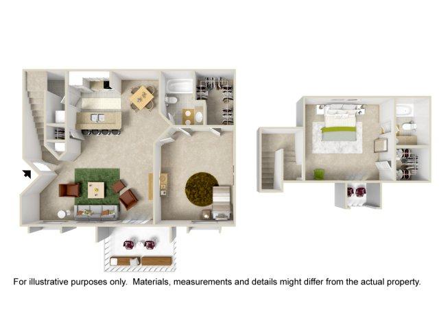 Floor Plan 8 | Apartments For Rent Altamonte Springs | Lakeshore at Altamonte Springs